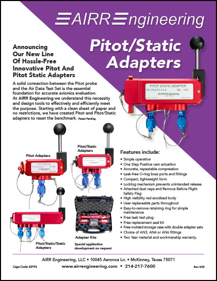 Pitot/Static Adapters Flyer
