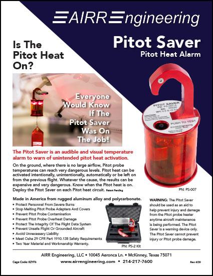 Pitot Saver Flyer